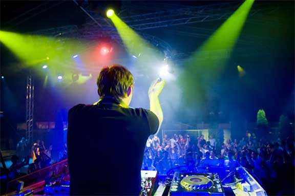 Show Licht Laser Party DJ Bechi